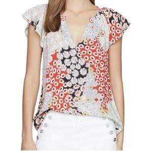 NWT Sanctuary floral print blouse sz:XS